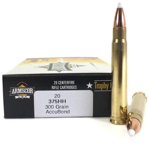 375 H&H 300 Grain Nosler AccuBond Bullet Armscor USA Trophy Class - 20 Rounds AC375HH-300gr-AB