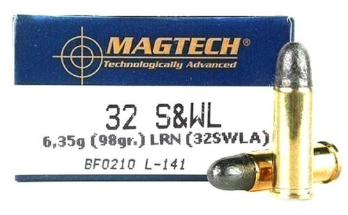 32 S&W Long 98 Grain Lead Round Nose Magtech Ammunition 32SWLA