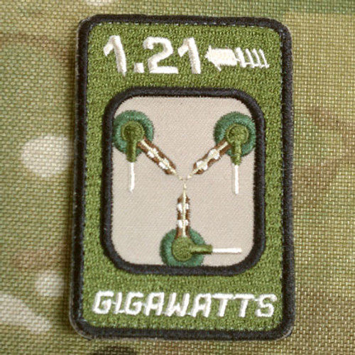 1.21 Gigawatts - embroidered velcro morale patch Flux Capacitor from Back to the Future surplusammo.com