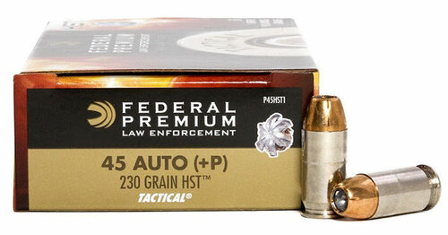 45 ACP 230 Grain Tactical HST JHP +P Federal Premium FDP45HST1
