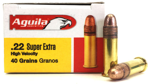 Surplus Ammo | Surplusammo.com 22 LR Aguila SuperExtra High Velocity 40 Grain CRN 1B222328