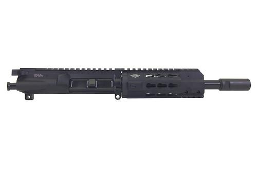 "Surplus Ammo | Surplusammo.com SAA 8"" 5.56 NATO Free Float Mini KR7 Keymod Series 5.56 NATO Complete AR-15 NFA/Pistol Upper Receiver"