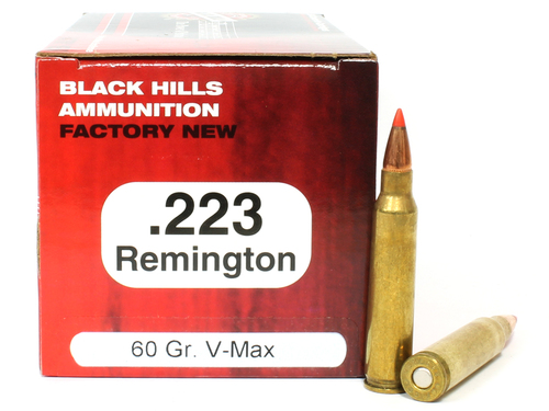 Surplus Ammo   Surplusammo.com .223 60 Grain V-MAX Black Hills - 50 Rounds, NEW-Red Box BHD223N10
