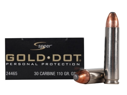 Surplus Ammo | Surplusammo.com 30 Carbine 110 Grain Gold Dot SP Speer - 20 Rounds (CC24465)