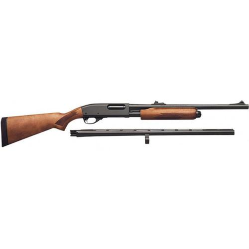 "Surplus Ammo   Surplusammo.com Remington 870 Express Combo Pump Action Shotgun - 20"" & 26"" Barrel 3"" Chamber - Satin Hardwood Stock"