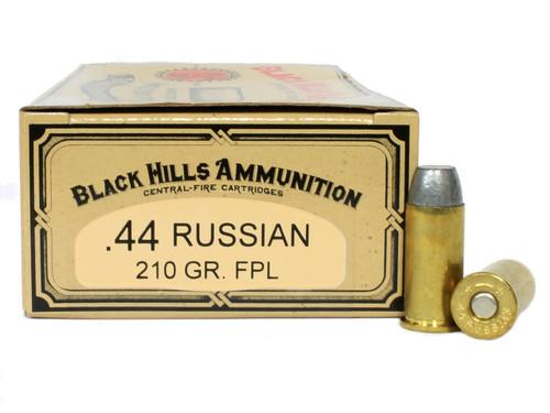 Surplus Ammo | Surplusammo.com 44 Russian 210 Grain Flat Point Lead Black Hills Cowboy Action Ammunition