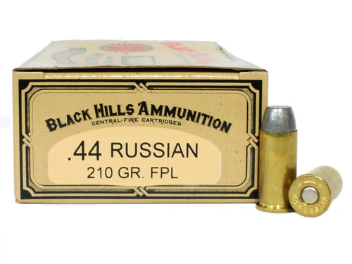 Surplus Ammo | Surplusammo.com 44 Russian 210 Grain Flat Point Lead Black Hills Cowboy Action Ammunition