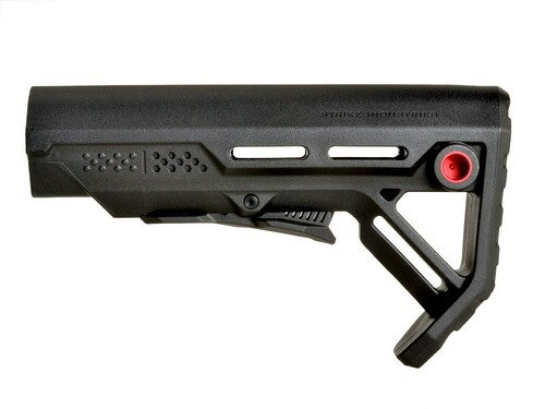 Surplus Ammo | Surplusammo.com Strike Industries MOD-1 Viper Stock - Black/Red (SI-VIPER-ES-MOD1BK-RED)