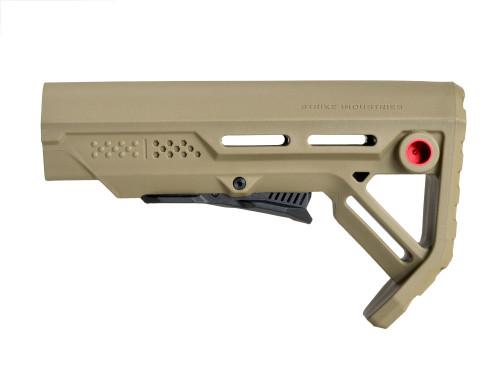 Surplus Ammo | Surplusammo.com Strike Industries MOD-1 Viper Stock - FDE/Red (SI-VIPER-ES-MOD1FDE-RED)