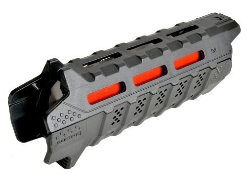Surplus Ammo | Surplusammo.com Strike Industries Viper Handguard Carbine Length - Black with Red Heat Shield (SI-VIPER-HG-CBK-BK)