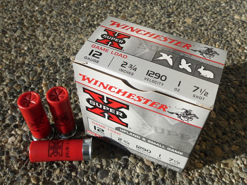 """12 Gauge Winchester Super X Game Load 2 3/4"""" #7.5 Lead Shot -  25 Rounds"""