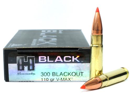 300 AAC Blackout 208 Grain A-MAX Hornady Black Ammunition