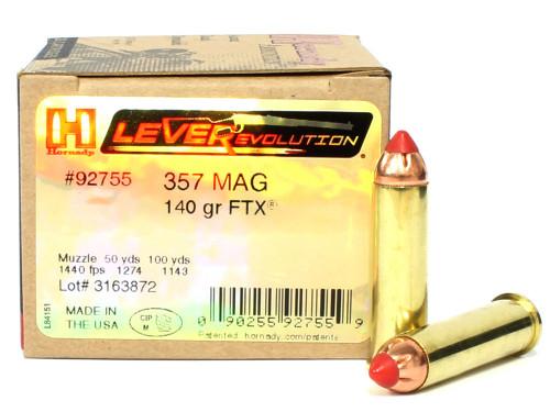 Surplusammo.com | Surplus Ammo 357 Magnum 140 Grain FTX Hornady LEVERevolution Ammunition