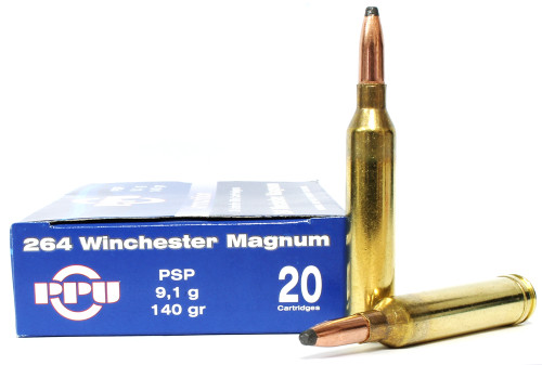Surplus Ammo | Surplusammo.com Prvi Partizan .264 Winchester Magnum 140 Grain Pointed Soft Point (PSP) - 20 Rounds  PP2.64