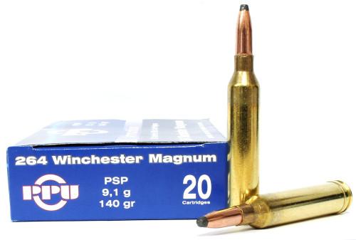 Surplus Ammo | Surplusammo.com Prvi Partizan .264 Winchester Magnum 140 Grain Pointed Soft Point (PSP) - 20 Rounds  PP2.64