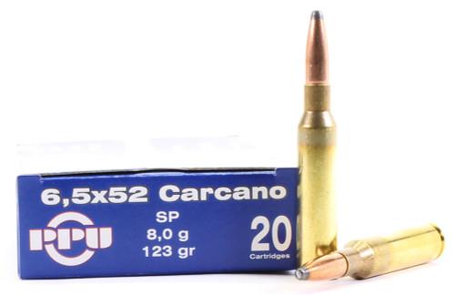 6.5x52mm Carcano 123 Grain SPBT Prvi Partizan PP6CS