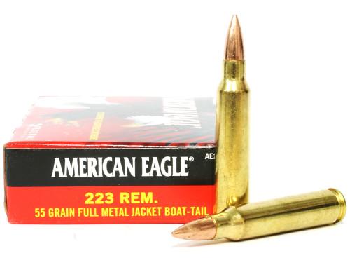 Surplus Ammo | Surplusammo.com .223 55 Grain FMJ-BT Federal American Eagle AE223