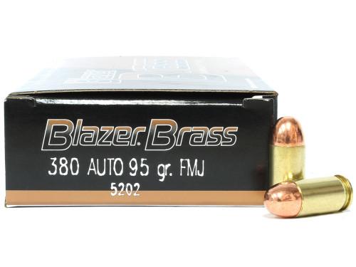 380 Auto 95 Grain FMJ CCI Blazer Brass CC5202
