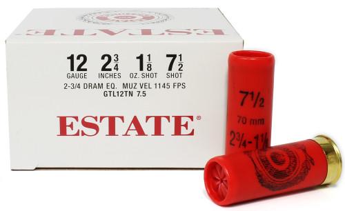 "Surplusammo.com 12 Gauge Federal Estate Game & Target Dove 2 3/4"" 1 1/8oz #7.5 Shot FDGTL12TN 7.5"