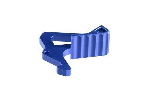 Surplus Ammo | Surplusammo.com Strike Industries Charging Handle Extended Latch - Blue (SI-AR-LATCH-BL)