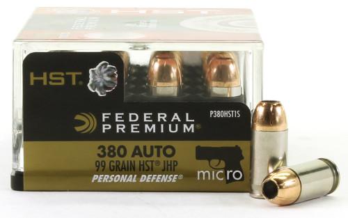 380 Auto 99 Grain Tactical HST Personal Defense Federal Premium FDP380HSTIS