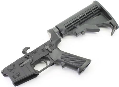 Surplusammo.com Spike's Tactical HONEY BADGER Logo AR15 Complete Lower with DPMS LPK & SAA Stock Kit STLS020SAA