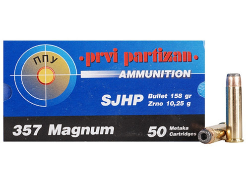 Surplus Ammo | Surplusammo.com .357 Magnum 158 Grain SJHP Prvi Partizan