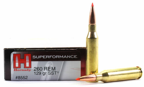 Surplus Ammo | Surplusammo.com 260 Remington 129 Grain SST Hornady Superformance Ammunition
