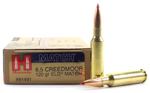 Surplus Ammo   Surplusammo.com 6.5 Creedmoor 120 Grain ELD Hornady Match