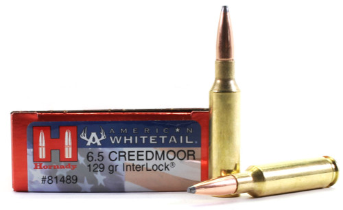 Surplus Ammo | Surplusammo.com 6.5 Creedmoor 129 Grain Interlock Hornady American Whitetail