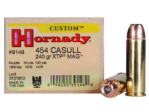 Surplus Ammo | Surplusammo.com 454 Casull 240 Grain XTP Hornady Ammunition