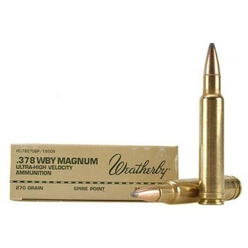 Surplus Ammo   Surplusammo.com Weatherby .378 WBY Magnum 270 Grain Ultra High Velocity - 20 Rounds (H378270SP)