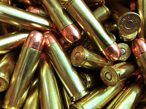 Surplus Ammo   Surplusammo.com 500 S&W Mag 300 Grain Copper Plated Flat Point SAA Ammunition