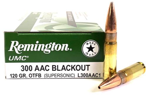 300 AAC Blackout 120 Grain OTFB Remington UMC RML300AAC1/21421