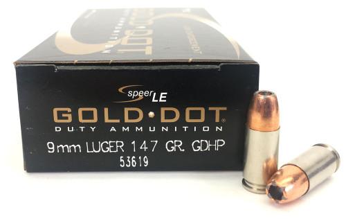 9mm 147 Grain GDHP Speer CCI Gold Dot Law Enforcement - 50 Rounds CC53619