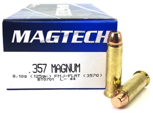 Surplus Ammo   Surplusammo.com 357 Magnum 125 Grain FMJ Magtech Ammunition