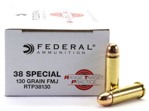 38 Special 130 Grain FMJ Federal Range.Target.Practice Ammunition FDRTP38130