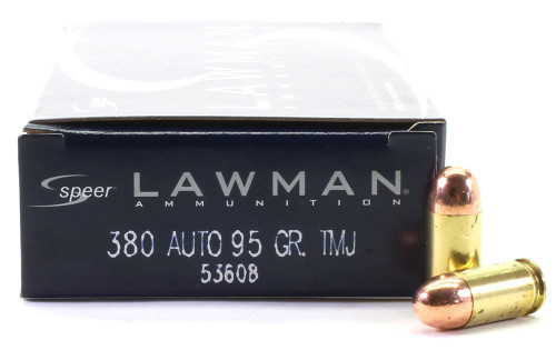 Surplus Ammo | Surplusammo.com 380 Auto 95 Grain TMJ Speer Lawman Ammunition