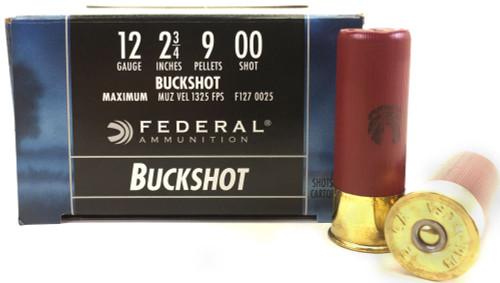 "Surplus Ammo | Surplusammo.com 12 Gauge Federal Power Shok 2 3/4"" 00 Buckshot 9 Pellet"