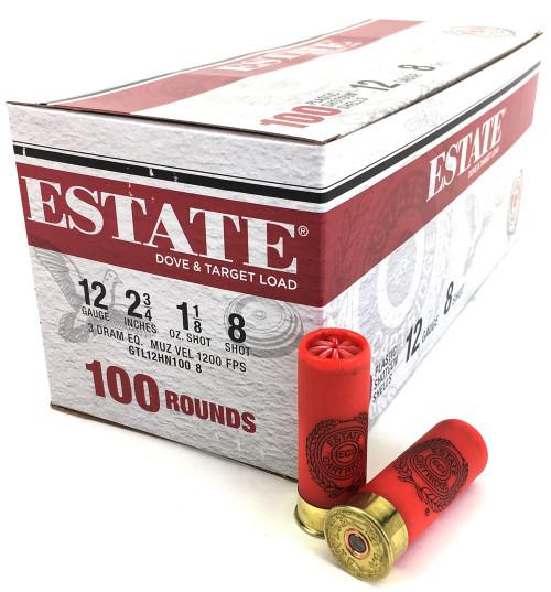 "Surplus Ammo | Surplusammo.com 12 Gauge Federal Estate Game & Target Dove 2 3/4"" 1 1/8oz. #8 Shot"