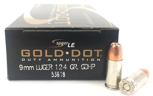 9mm 124 Grain GDHP Speer CCI Gold Dot Law Enforcement - 50 Rounds CC53618
