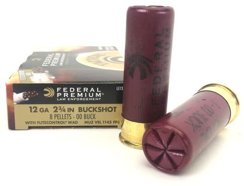 """12 Gauge Federal Premium LE 2 3/4"""" 8 Pellet 00 Buckshot LE133 FDLE133 00"""