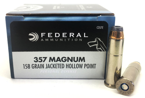 357 Magnum 158 Grain JHP Federal Premium Personal Defense Ammunition - 20 Rounds C357E