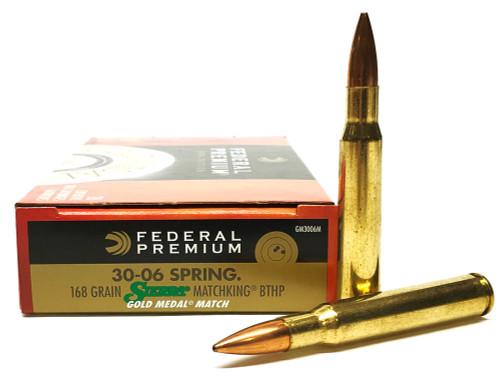 .30-06 Sprg 168 Grain Sierra Matchking HP-BT Federal Gold Medal Match FDGM3006M