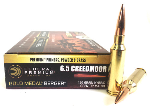 6.5 Creedmoor 130 Grain Hybrid OTM Federal Gold Medal BERGER - 20 Rounds FDGM65CRDBH130