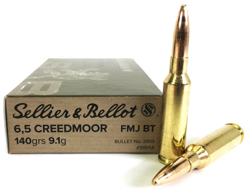 6.5 Creedmoor 140 Grain FMJ-BT Sellier & Bellot - 20 Rounds SA65A