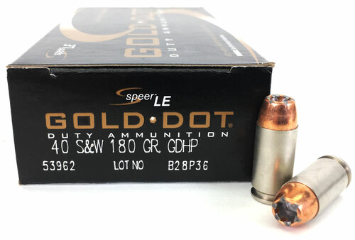 40 S&W 180 Grain Gold Dot HP Speer CCI - 50 Rounds CC53962