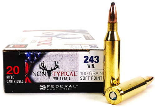 .243 Win 100 Grain SP Federal Non-Typical - 20 Rounds FD243DT100