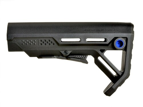 Surplus Ammo | Surplusammo.com Strike Industries MOD-1 Viper Stock - Black/Blue(SI-VIPER-ES-MOD1BK-BLU)