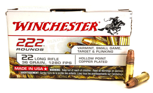 22 LR Winchester 36 Grain Lead Hollow Point WIN22LR222HP